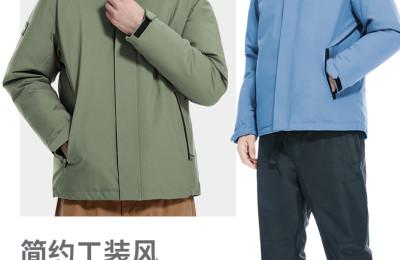 Camel 骆驼 2021秋冬新款男女士羽绒内胆冲锋衣 多色 359元包邮